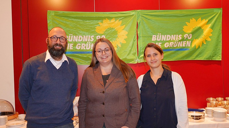 Unser neuer Ortsvorstand:Michael Kilian (Sprecher), Verena Juranowitsch (Sprecherin) und Susanna List (Beisitzerin)